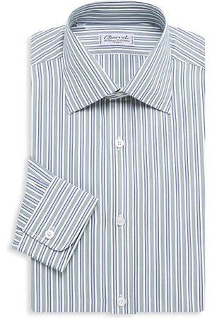 Charvet Bold Contrast Medium Striped Silk Dress Shirt
