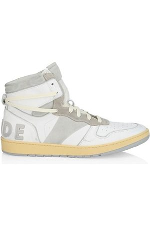 Rhude Rhecess High-Top Leather Sneakers
