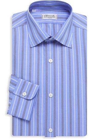 Charvet Bold Wide Contrast Striped Silk Dress Shirt