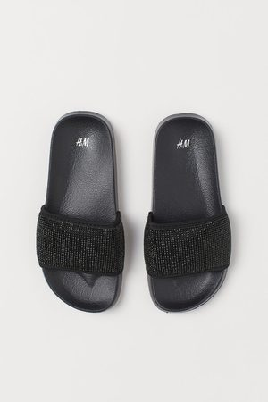 H&M Girls Thongs - Rhinestone Slides