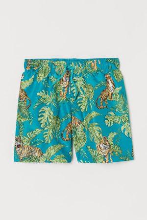 H&M Pattern Boardshorts - Turquoise
