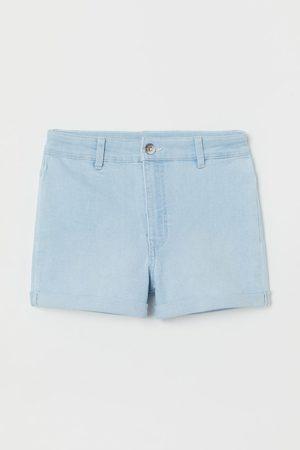 H&M Women Shorts - High Waist Shorts - Turquoise