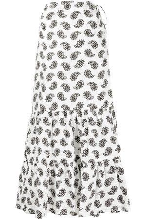Msgm Women Midi Skirts - Paisley-print midi skirt