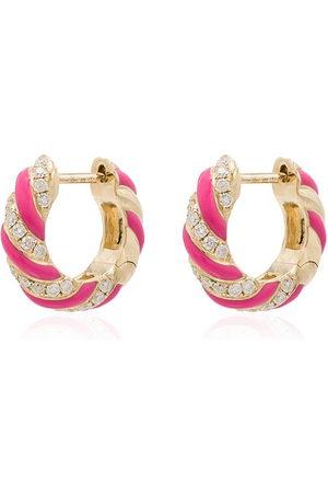 YVONNE LÉON 9kt diamond hoop earrings