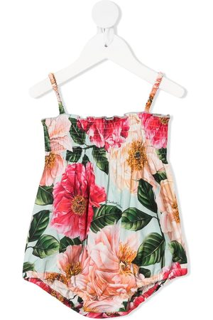Dolce & Gabbana Rompers - Floral-print ruched body