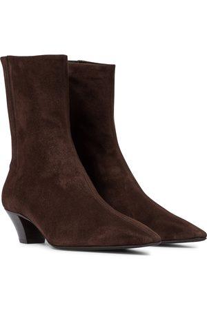 Aquazzura Women Ankle Boots - Saint Honoré 45 suede ankle boots