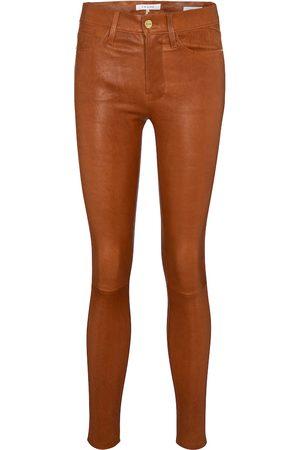 Frame Women High Waisted - Le High Skinny leather pants