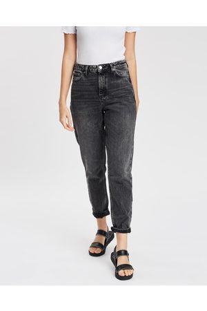 Topshop Women Slim - Washed Mom Jeans - Slim (Washed ) Washed Mom Jeans