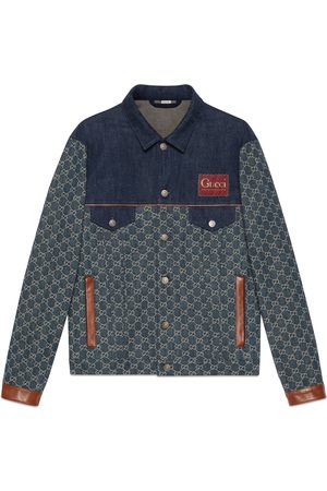 Gucci Men Denim Jackets - Eco washed organic denim jacket