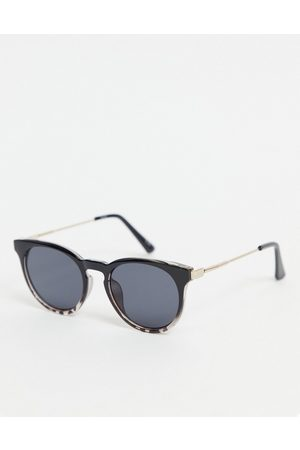 ASOS Round sunglasses in black and tort frame-Multi