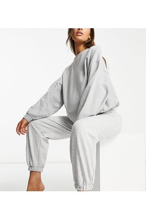 ASOS ASOS DESIGN Maternity lounge super oversized trackies in grey marle