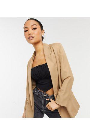 ASOS ASOS DESIGN Petite perfect blazer in camel-Beige