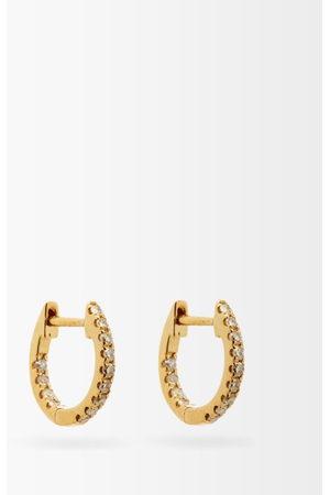 ROSA DE LA CRUZ Diamond & 18kt Hoop Earrings - Womens