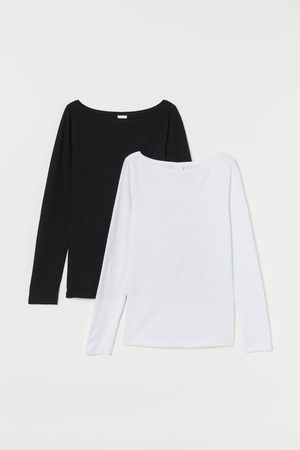 H&M 2-pack Long Sleeve Jersey Tops