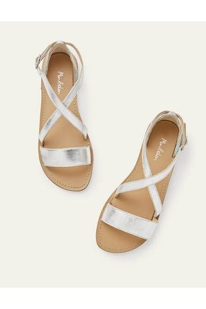 Boden Mini Leather Crossover Sandals Girls Boden