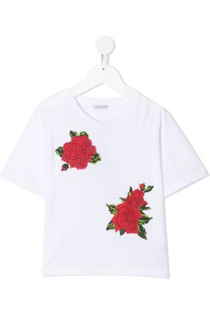 Dolce & Gabbana Embroidered floral T-shirt