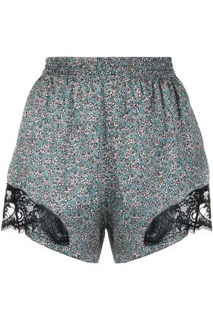 Paco rabanne Lace-panel floral-print shorts