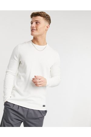 Only & Sons Crew neck jumper in white