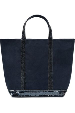 Vanessa Bruno Medium Canvas And Sequins Cabas Tote Bag