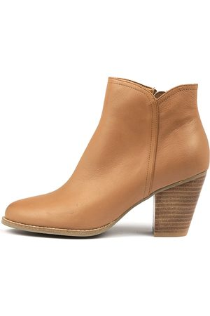 Django & Juliette Cage Tan Boots Womens Shoes Casual Ankle Boots