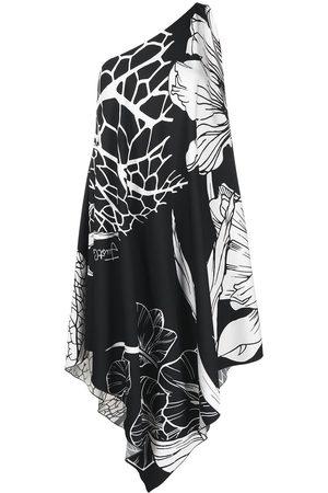 Roberto Cavalli Draped floral-print dress