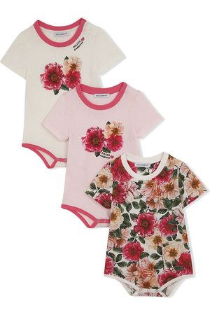 Dolce & Gabbana Floral-print short-sleeve body