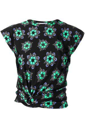 Paco rabanne Geometric floral crop top