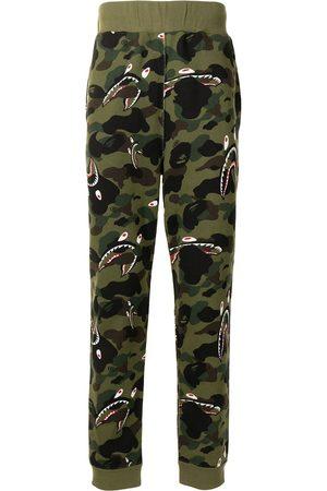 A Bathing Ape Men Joggers - Shark camouflage-print track pants