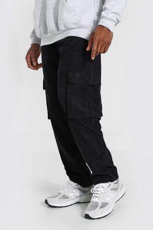 Boohoo Men Cargo Pants - Mens Corduroy Straight Leg Cargo Trouser