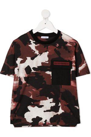 Dolce & Gabbana Camouflage chest pocket T-shirt