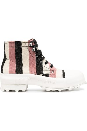 Camper Lab Women Ankle Boots - Traktori striped ankle boots