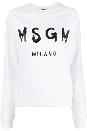 Msgm Women Sweatshirts - Logo-print sweatshirt