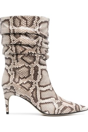Sergio Rossi Rock snake-effect boots
