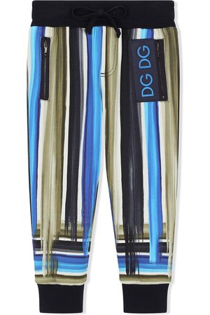 Dolce & Gabbana Boys Joggers - Painted stripe track pants