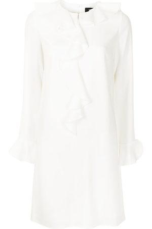 Paule Ka Ruffle-embellished crepe dress