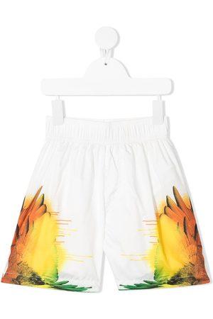 MARCELO BURLON Boys Board Shorts - Wings-print swim shorts