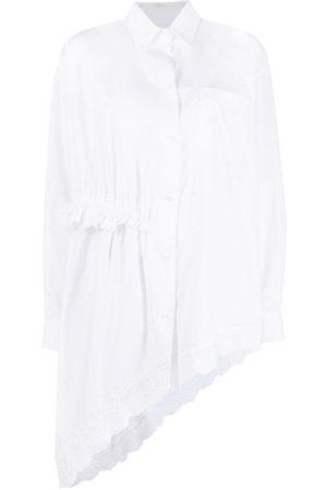Simone Rocha Women Shirts - Asymmetric ruffle-detail shirt