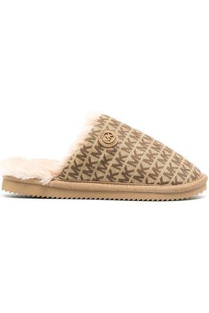 Michael Kors Women Shoes - Janis logo jacquard slippers