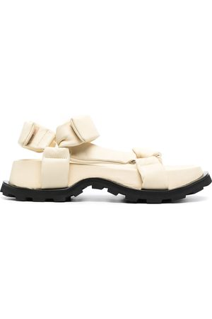 Jil Sander Women Sandals - Chunky leather touch strap sandals