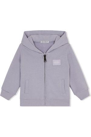 Dolce & Gabbana Hoodies - Logo-patch long-sleeve hoodie
