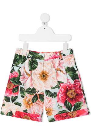 Dolce & Gabbana Floral-print cotton shorts