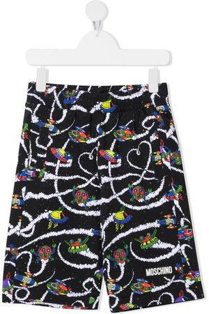 Moschino Space print Bermuda shorts
