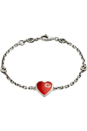 Gucci Men Bracelets - Interlocking G heart bracelet