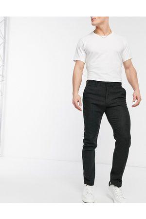 ASOS Skinny wool mix suit pants in brown herringbone