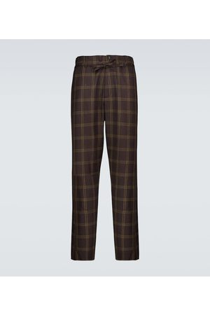 Marni Checked wool-blend pants