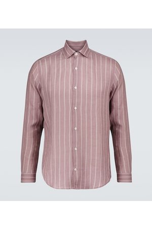 Frescobol Carioca Thomas Leblon-striped linen shirt