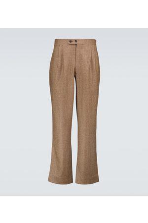 BODE Men Formal Pants - Houndstooth wool pants