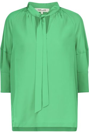 Diane von Furstenberg Lynn silk crêpe de chine blouse