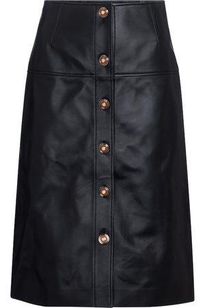 GABRIELA HEARST Anna leather midi skirt