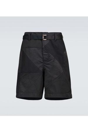 SACAI Hank Willis Thomas Solid Mix shorts